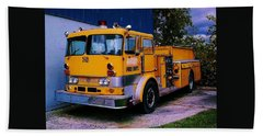 Hand Towel featuring the photograph 710 ....... Fire Dept. by Daniel Thompson