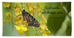 Butterfly Scripture Hand Towel