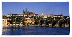 Charles Bridge Prague Czech Republic Bath Towel
