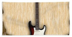 Fender Stratocaster Collection Hand Towel by Marvin Blaine