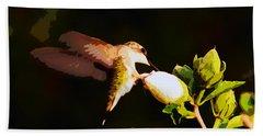 Hummingbird Bath Towel by John Freidenberg