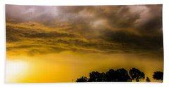 Late Afternoon Nebraska Thunderstorms Bath Towel