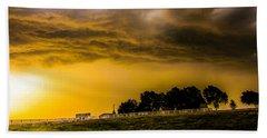 Late Afternoon Nebraska Thunderstorms Hand Towel