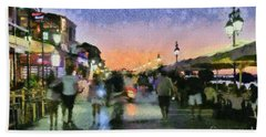 Sunset In Lefkada Town Hand Towel