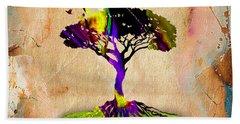 Tree Of Life Painting Hand Towel