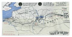 89th Infantry Division World War I I Map Hand Towel