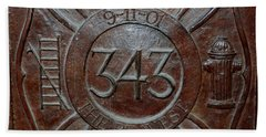 9 11 01 F D N Y 343 Hand Towel by Rob Hans