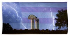 9-11 We Will Never Forget 2011 Poster Bath Towel