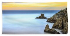 Campelo Beach Galicia Spain Hand Towel by Pablo Avanzini