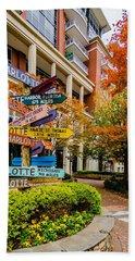 Charlotte City Skyline Autumn Season Bath Towel