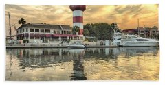 Lighthouse On Hilton Head Island Bath Towel