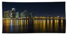 Miami Downtown Skyline Bath Towel