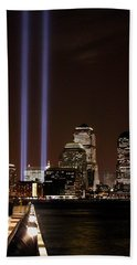 Hand Towel featuring the photograph 911 Anniversary by Gary Slawsky