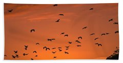 Birds At Sunset Hand Towel