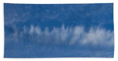 Bath Towel featuring the photograph A Batch Of Interesting Clouds In A Blue Sky by Eti Reid