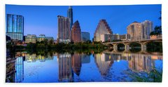 A Beautiful Austin Evening Hand Towel by Dave Files