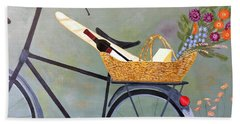 A Bicycle Break Hand Towel