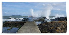 A Blustery Day At High Rock Hand Towel by Martina Fagan
