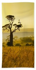 A Boab Sunrise Hand Towel by Holly Kempe