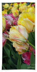 Bath Towel featuring the digital art A Bouquet Of Tulips For You by Eva Kaufman
