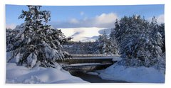 A Bridge In The Snow Hand Towel