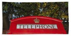A British Phone Box Hand Towel