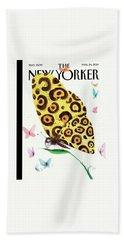 A Butterfly With A Cheetah Pattern Rests Hand Towel