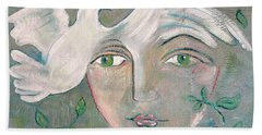 A Captured Young Emotion Hand Towel by John Keaton