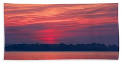 A Chesapeake Bay Sunrise Bath Towel