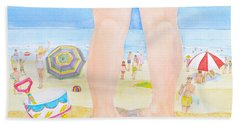 A Child Remembers The Beach Hand Towel