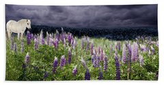 A Childs Dream Among Lupine Hand Towel
