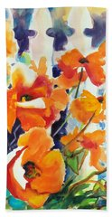 A Choir Of Poppies Hand Towel by Kathy Braud