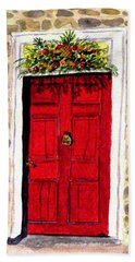 A Colonial Christmas At The Dobbin House Gettysburg Hand Towel by Angela Davies