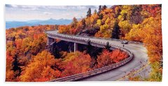 A Colorful Ride Along The Blue Ridge Parkway Bath Towel