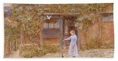 A Cottage At Shere Bath Towel