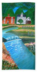 Bath Towel featuring the painting A Country Stream by Magdalena Frohnsdorff
