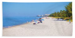 A Day At Naples Beach Hand Towel