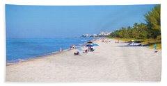 A Day At Naples Beach Bath Towel