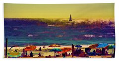 A Day At The Beach Bath Towel by Billie-Jo Miller