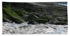 Hand Towel featuring the photograph A Day At The River by Michael Krek