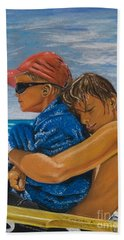 A Day On The Beach Bath Towel