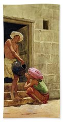 A Drink On The Way, 1876 Bath Towel