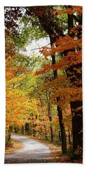 Hand Towel featuring the photograph A Drive Through The Woods by Bruce Bley