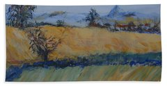 Bath Towel featuring the painting A Field In France by Avonelle Kelsey