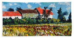 A Field In France Hand Towel