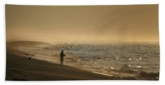 Bath Towel featuring the photograph A Fisherman's Morning by GJ Blackman