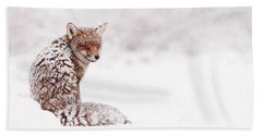A Red Fox Fantasy Hand Towel by Roeselien Raimond