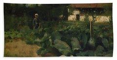 A French Kitchen Garden, 1883 Hand Towel