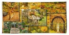 A Garden Collage Photo Art Bath Towel