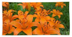 A Garden Full Of Lilies Hand Towel